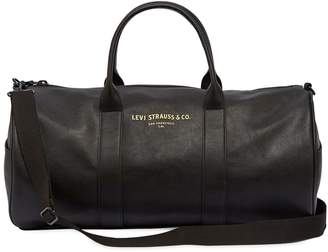 Levi's Logo Faux Leather Duffle Bag