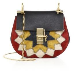 Chloe Drew Small Patchwork Suede & Leather Saddle Crossbody Bag $2,290 thestylecure.com
