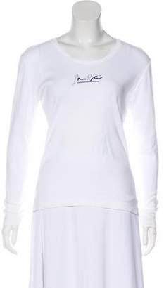 Sonia Rykiel Long Sleeve Logo Top