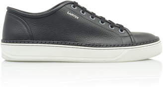 Lanvin Grained-Leather Low-Top Sneakers