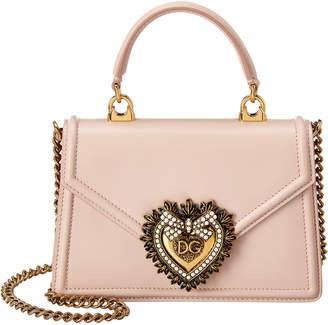 Dolce & Gabbana Devotion Mini Leather Top Handle Crossbody