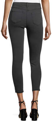 L'Agence Margot High-Rise Skinny Ankle Jeans with Holes