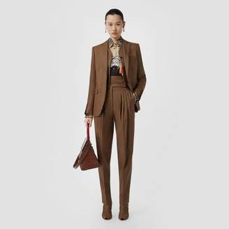 Burberry Vest Detail Technical Linen Tailored Jacket