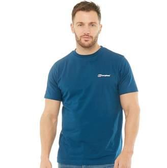Berghaus Mens Blocks 4 Back Logo T-Shirt Dark Blue