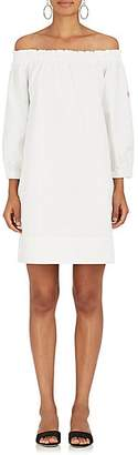 Lisa Perry WOMEN'S COTTON TWILL OFF-THE-SHOULDER SHIFT DRESS - WHITE SIZE L