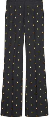 Gucci pineapple embroidered trousers