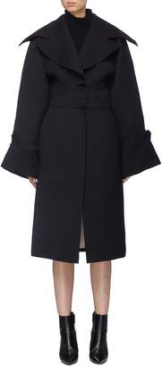Situationist Wide sleeve oversized lapel coat