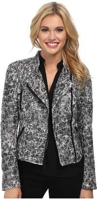 Sam Edelman Crackle Moto Jacket Women's Coat