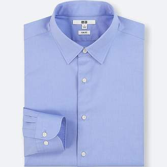 Uniqlo Men's Easy Care Broadcloth Slim-fit Long-sleeve Shirt