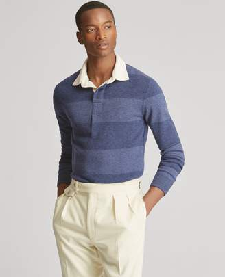 Ralph Lauren Striped Cashmere Rugby Sweater