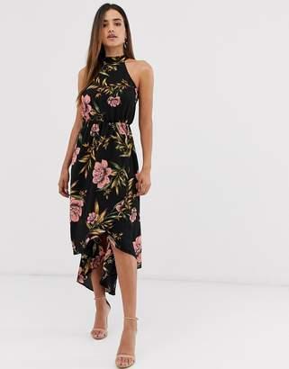 AX Paris floral halter neck dress