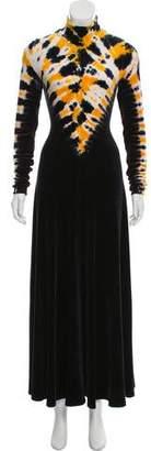 Proenza Schouler Tie-Dye Velour Evening Dress