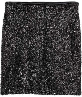 H&M Glittery Skirt - Black
