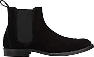 Barneys New York Men's Suede Chelsea Boots - Black