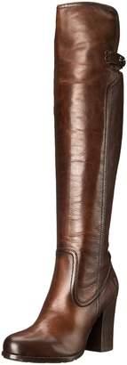 Frye Women's Parker Over The KneeAPU Engineer Boot, Dark Brown