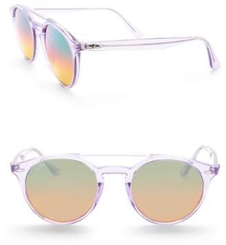 Ray-Ban 51mm Highstreet Round Sunglasses