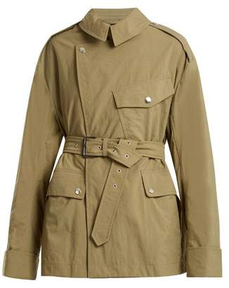 Isabel Marant Lorenzo Tie Waist Trench Coat - Womens - Khaki
