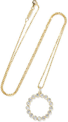 Jennifer Meyer Open Circle 18-karat Gold Diamond Necklace