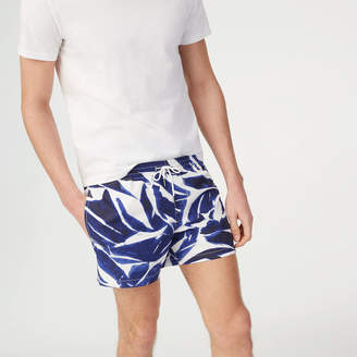 Club Monaco Arlen Leaf Print Swim Trunk