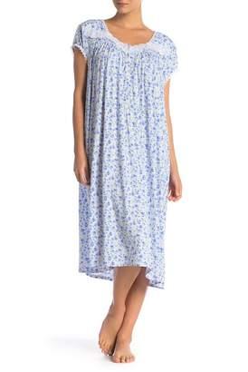 Eileen West Waltz Printed Midi Nightgown