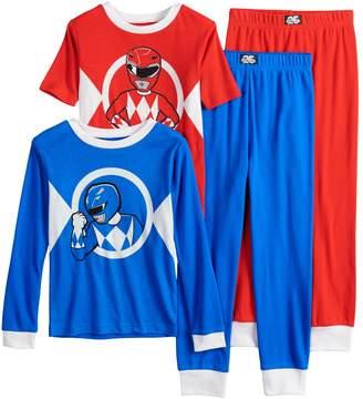 Boys 4-10 Power Rangers 4-Piece Pajama Set