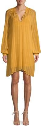 BCBGMAXAZRIA Asymmetrical Mini Shift Dress