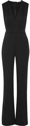 Diane von Furstenberg - Viona Silk-blend Jumpsuit - Black $500 thestylecure.com