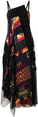 Sacai Pendleton maxi dress