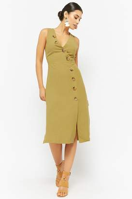 Forever 21 Linen Button-Front Dress