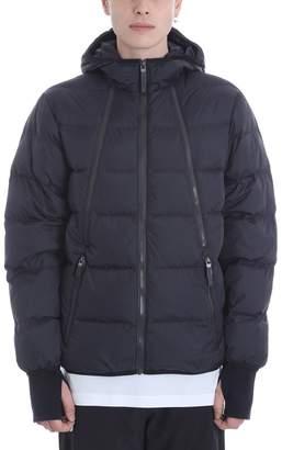 BLACKBARRETT by NEIL BARRETT Multi Zip Black Nylon Down Jacket