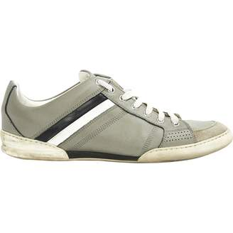 Christian Dior Grey Leather Trainers