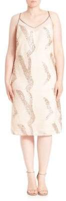 ABS by Allen Schwartz Sequin Midi Dress