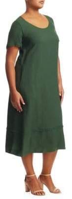 Marina Rinaldi Marina Rinaldi, Plus Size Domino Linen Dress
