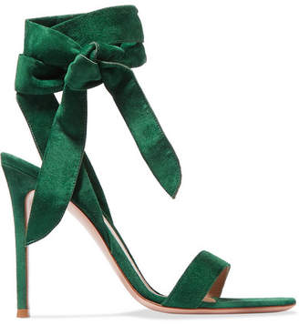 Gianvito Rossi 105 Suede Sandals - Forest green