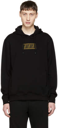 Fendi Black Cashmere Forever Patch Hoodie