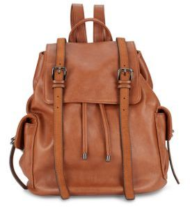 Leather Crossbody Backpack $118 thestylecure.com