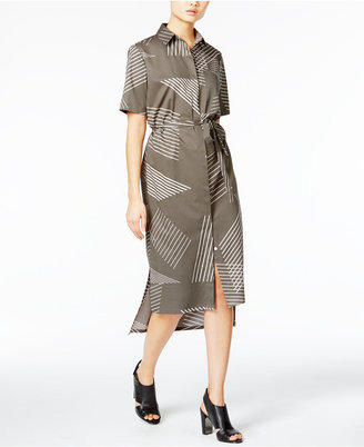 DKNY Printed High-Low Shirtdress $248 thestylecure.com