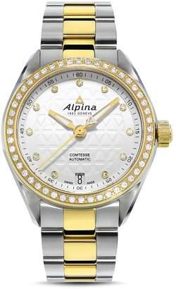 Alpina Comtesse Two-Tone Sport Watch with Diamonds, 34mm