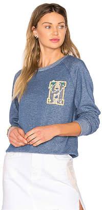 Tommy Hilfiger TOMMY X GIGI Sweatshirt in Blue $130 thestylecure.com