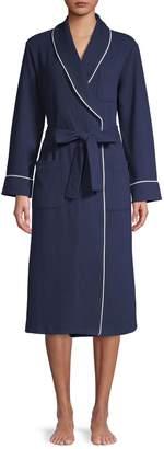 Elysian Waffle-Knit Belted Robe
