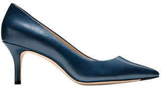Cole Haan Vesta Grand Leather Point-Toe Pumps, Marine Blue