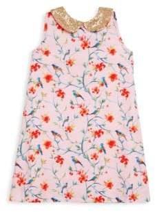 Little Girl's & Girl's Sequin Printed Dress