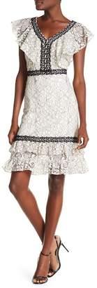 Nanette Lepore NANETTE Flounce Hem Lace Dress