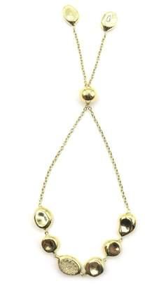 Ippolita 18K Gold Diamond Onda Chain Slide Bracelet - 0.09 ctw