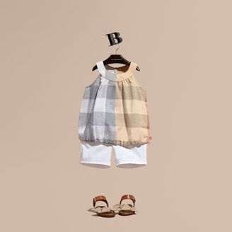 Burberry Gathered Check Cotton Top $105 thestylecure.com