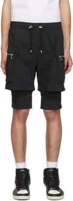 Balmain Navy Double Layer Shorts