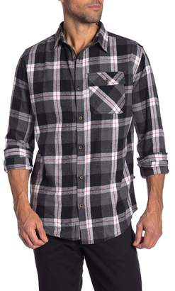 Straight Faded Long Sleeve Flannel Shirt
