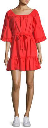 Joie Colstona Cotton Square-Neck Mini Dress