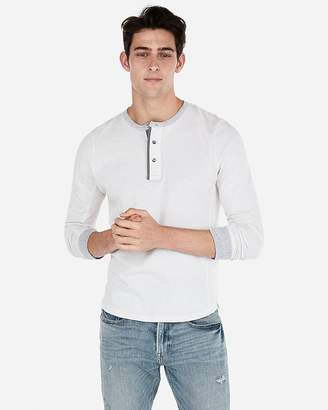 Express Marled Knit Henley