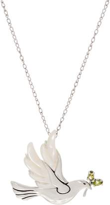Carolyn Pollack Sterling Silver Mother-of- Pearl Dove Necklace